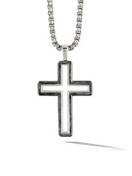 David Yurman Forged Carbon cross pendant - SSBFG