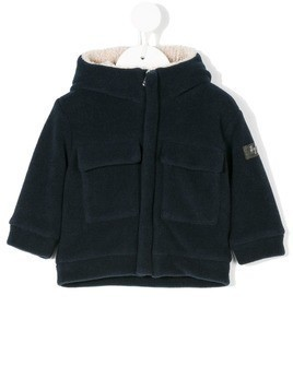 Il Gufo patch pockets hooded jacket - Blue
