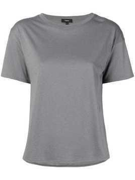 Theory silk panel T-shirt - Grey