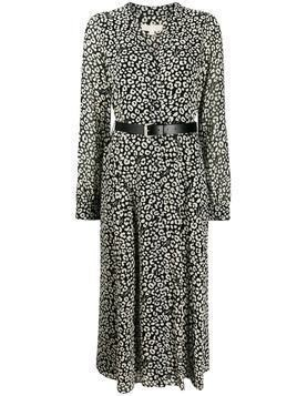 Michael Michael Kors leopard print shirt dress - Black