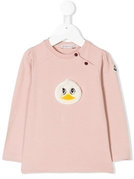 Moncler Kids fluffy duck T-shirt - Pink & Purple