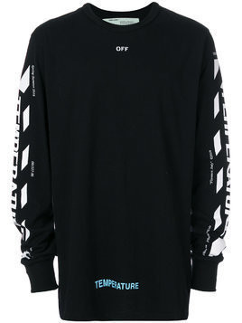 Off-White Temperature long sleeve T-shirt - Black