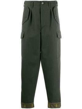 Loewe contrast hem tapered trousers - Green