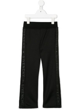 Givenchy Kids branded sides jogging trousers - Black