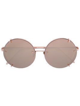 Linda Farrow round shaped sunglasses - Metallic