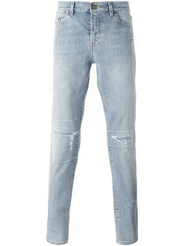 Saint Laurent stonewashed slim-fit jeans - Blue