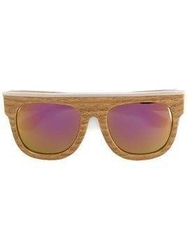 Dax Gabler 'N°02' wood-effect sunglasses - Brown