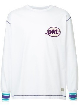 A(Lefrude)E Owl patch sweatshirt - White