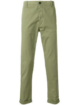 Closed roll-up hem chinos - Green