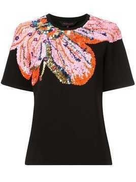 Manish Arora sequinned short sleeve T-shirt - Black
