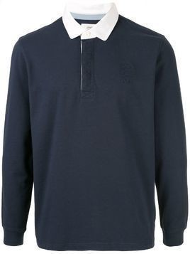 Kent & Curwen embroidered logo polo shirt - Blue