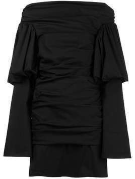 Ellery Cissy Strut Ruched Mini Dress - Black