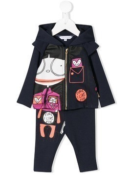 Little Marc Jacobs printed tracksuit set - Blue