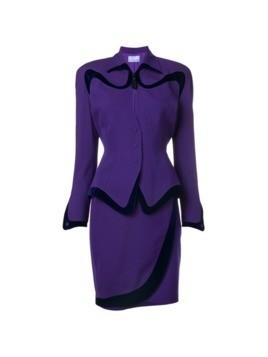 Thierry Mugler Vintage skirt and jacket set - Pink&Purple