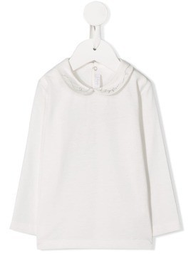 Il Gufo embroidered collar jumper - White