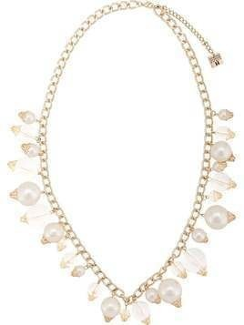 Edward Achour Paris Lucite ball necklace - White