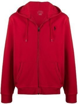 Polo Ralph Lauren zipped long-sleeved hoodie - Red