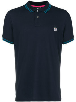 Ps By Paul Smith logo short-sleeve polo shirt - Blue