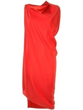 Jean Paul Knott asymmetric hem dress - Red