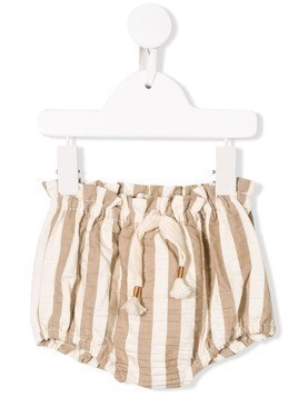 Message In The Bottle striped shorts - NEUTRALS