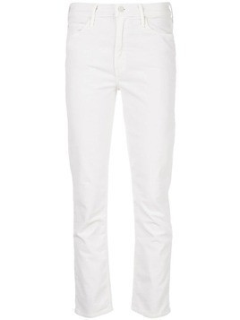 Mother slim-fit jeans - White