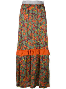 I'M Isola Marras floral print long ruffle skirt - Multicolour
