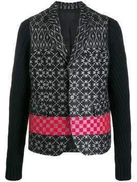 Haider Ackermann embroidered long-sleeve cardigan - Black