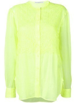 Ermanno Scervino floral lace oversized shirt - Yellow