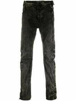 Masnada washed slim-cut jeans - Black