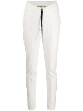 Nineminutes pleated skinny trousers - White