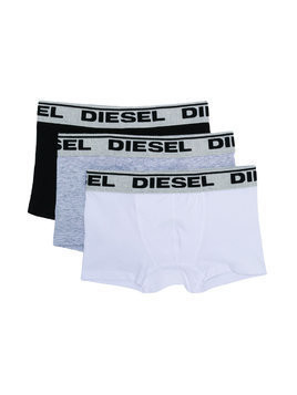 Diesel Kids three-pack logo underwear - Grey