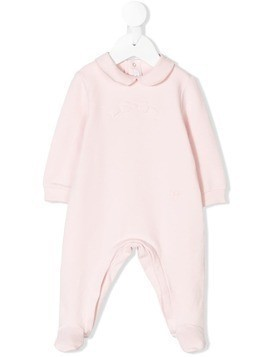 Il Gufo bow embroidered pajamas - Pink & Purple
