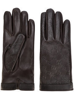 Gucci - GG Supreme Debossed Gloves - Men - Nappa Leather - 9.5