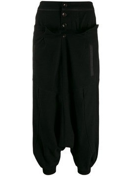 Aganovich dropped crotch pants - Black
