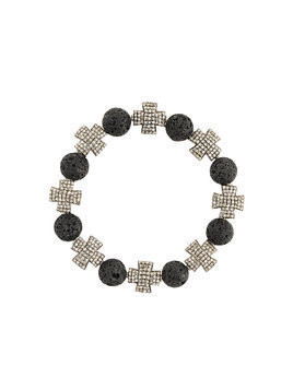 Loree Rodkin beaded cross bracelet - Black