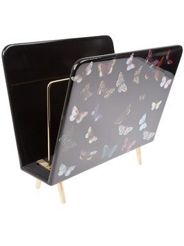 Fornasetti butterfly magazine rack - Black