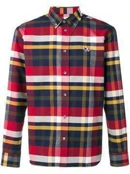 Maison Kitsuné Fox Patch checked shirt - Blue