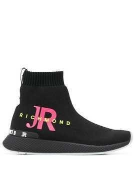 John Richmond slip-on high-top sneakers - Black