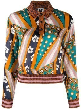 M Missoni printed sweater - Blue