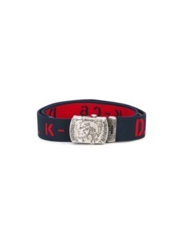 Diesel Kids logo print belt - Blue