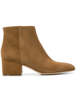 Sergio Rossi block heel ankle boots - Brown