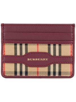 Burberry checked cardholder - Pink & Purple