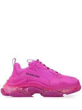 Balenciaga Triple S clear sole sneakers - PINK