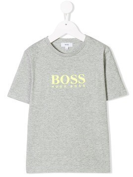 Boss Kids logo print T-shirt - Grey