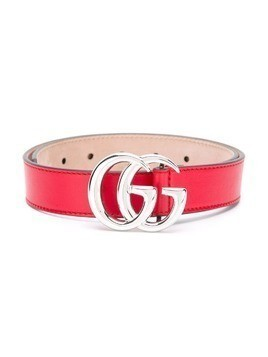 Gucci Kids logo buckle belt - Red