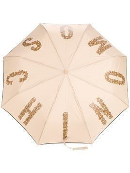 Moschino teddybear logo printed umbrella - Nude & Neutrals