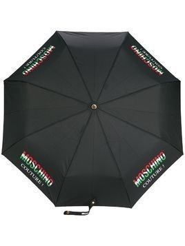 Moschino Couture! print umbrella - Black