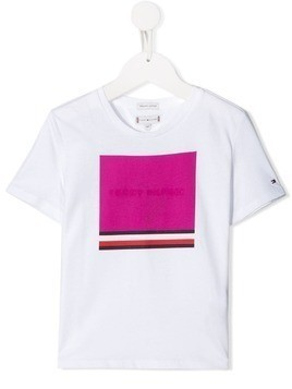 Tommy Hilfiger Junior box print T-shirt - White
