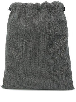 Brunello Cucinelli metal embellished contrast backpack - Grey