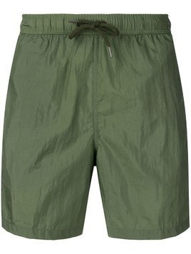Aspesi panel detailed swim shorts - Green